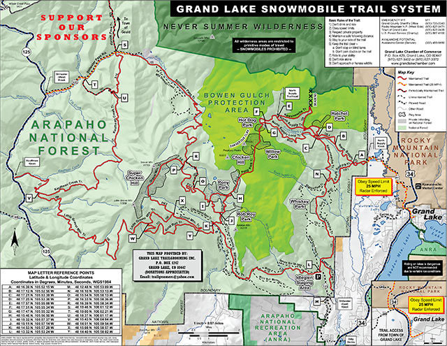 Stay the Trail Colorado ATV trailmap preview